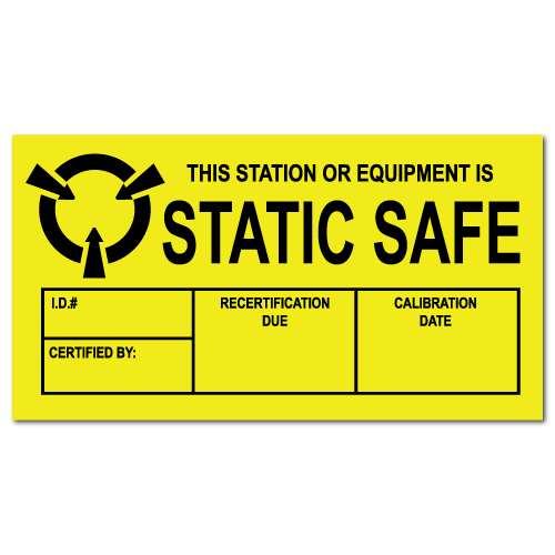 "1.5"" x 3"" Static Safe Labels"