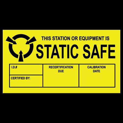 """1.5"""" x 3"""" Static Safe Labels"""