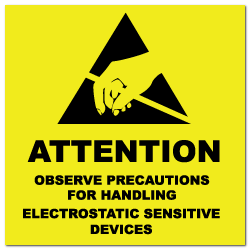 "4"" x 4"" Attention Electrostatic Sensitive Devices Labels"