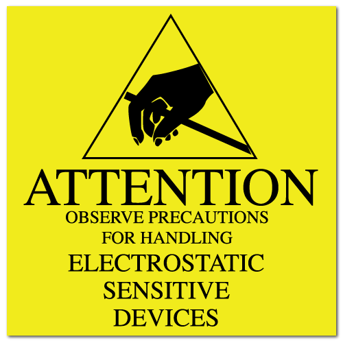 "2"" x 2"" Attention Electrostatic Sensitive Devices Labels"