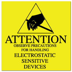 "2"" x 2"" Attention Electrostatic Sensitive Devices Labels"