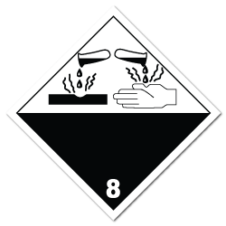 International Class 8 Corrosive Stickers