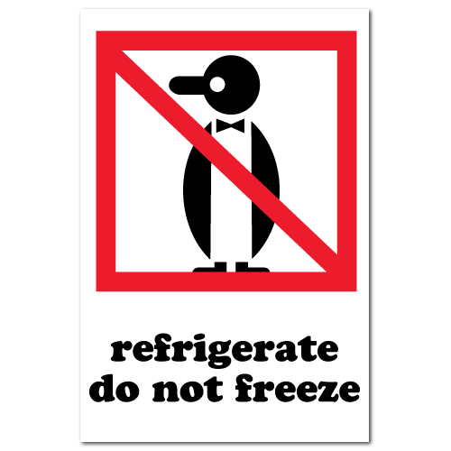 Refrigerate Do not Freeze International Pictorial Stickers