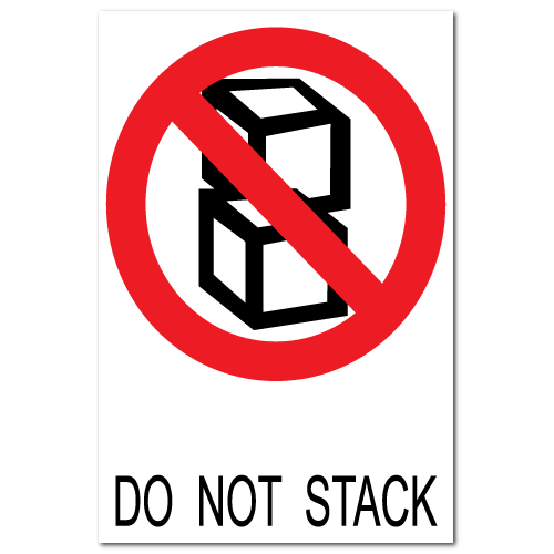 Do Not Stack Stickers