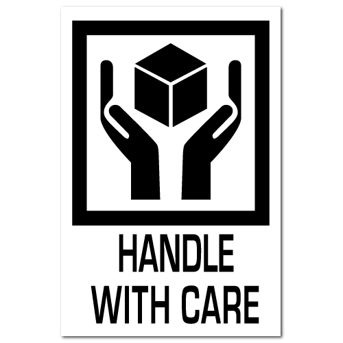 Handle With Care International Stickers