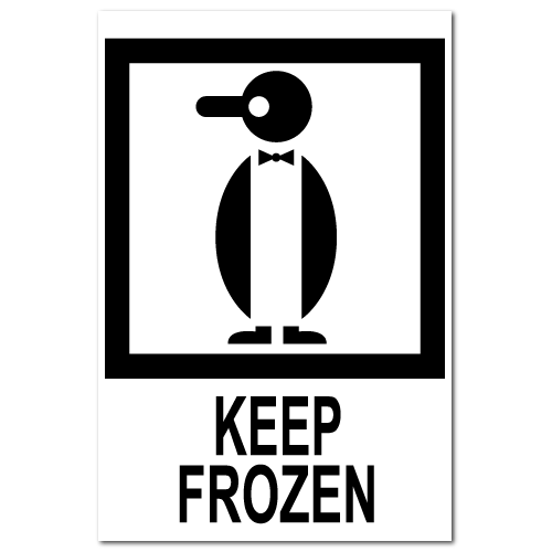 Keep Frozen International Stickers