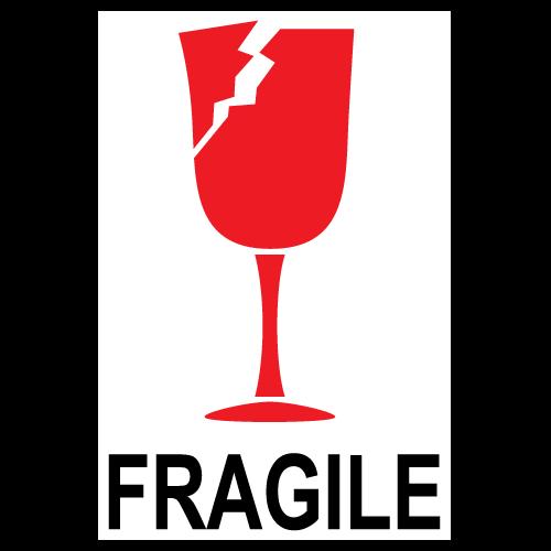 Fragile Broken Glass International Stickers