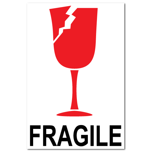 Fragile Broken Glass International Stickers