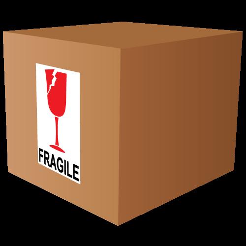 Fragile Broken Glass International Labels