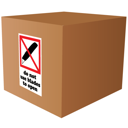Do Not Use Blades to Open International Labels