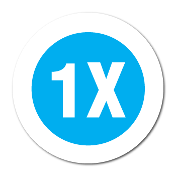 """1X"" Garment Stickers"