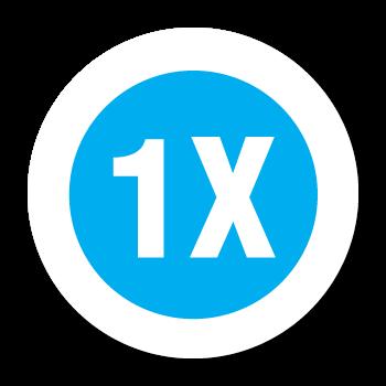 """1X"" Garment Stickers"