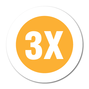 """3X"" Garment Stickers"