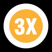 """3X"" Garment Stickers"