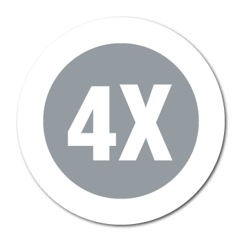 """4X"" Garment Stickers"