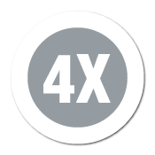 """4X"" Garment Stickers"