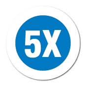 """5X"" Garment Stickers"