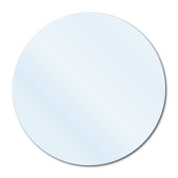 Crystal Clear Circle Blank Labels