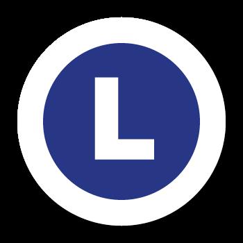 """L"" Large Garment Stickers"