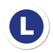"""L"" Large Garment Stickers"
