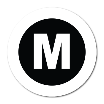 """M"" Medium Garment Stickers"
