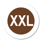 """XXL"" Extra Large Garment Stickers"