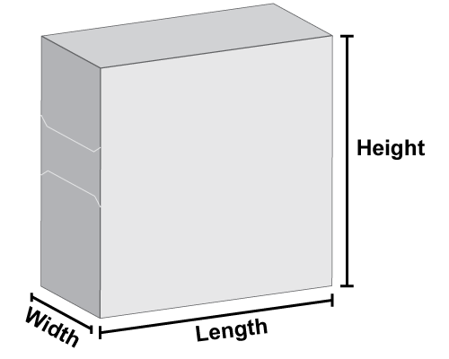 Dispenser Box Dimensions