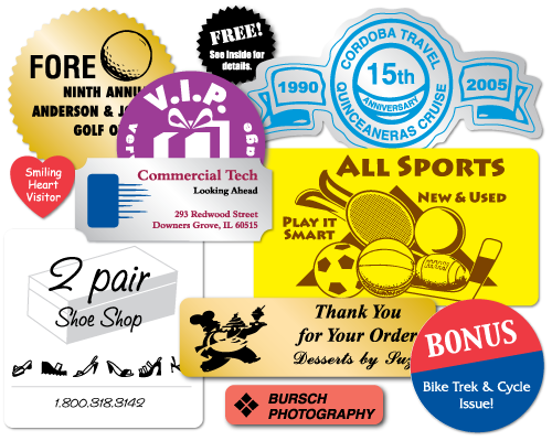 Custom printed stickers customized with your logo artwork or design
