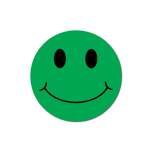 Smiley Face Green