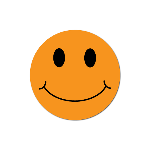 Smiley Face Orange