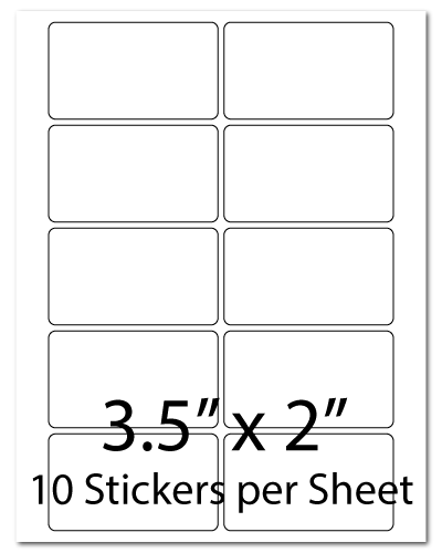L10, 3.5 x 2, 10 Stickers per Sheet