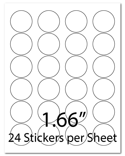 L11, 1.66 Diameter, 24 Stickers per Sheet