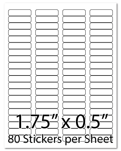 L20, 1.75 x 0.5, 80 Stickers per Sheet