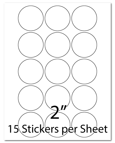 L22, 2 Diameter, 15 Stickers per Sheet