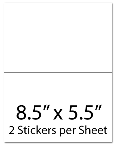 L2, 8.5 x 5.5, 2 Stickers per Sheet