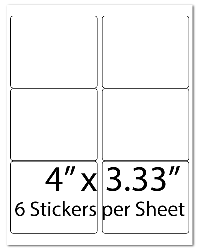 L6, 4 x 3.33, 6 Stickers per Sheet