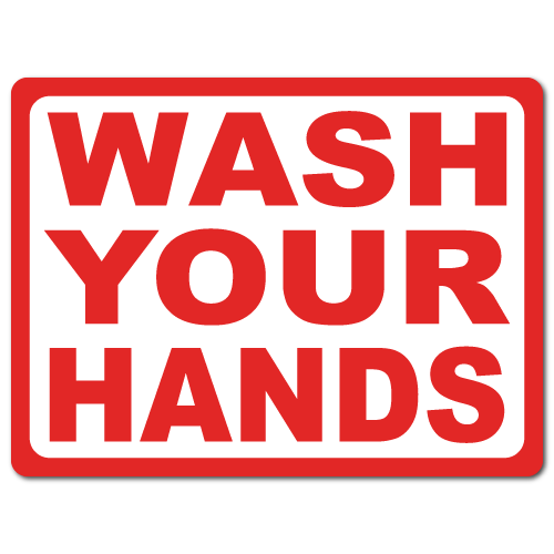 """4"""" x 3"""" Wash Your Hands Stickers."""