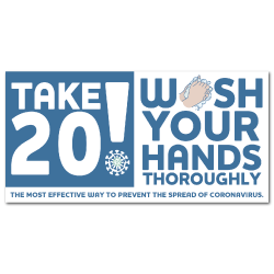Take 20! Wash Your Hands Labels