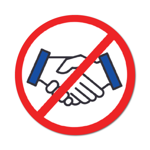 No Hand Shake Stickers