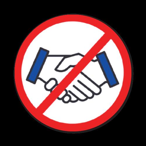 No Hand Shake Stickers