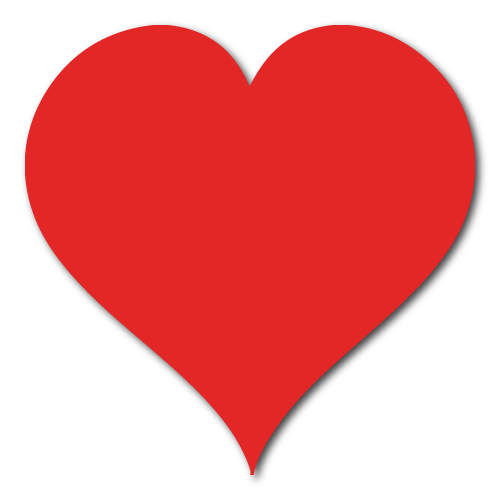 """1"""" x 1"""" Red Heart Labels"""