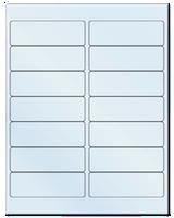 "4"" X 1.33"" Frosty (Matte) Clear Sheets"