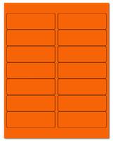 "4"" X 1.33"" Fluorescent Orange Sheets"