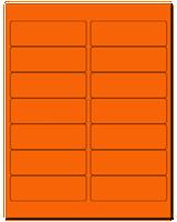 "4"" X 1.33"" Fluorescent Orange Sheets"