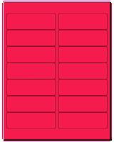 "4"" X 1.33"" Fluorescent Pink Sheets"