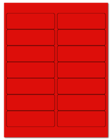 "4"" X 1.33"" Fluorescent Red Sheets"