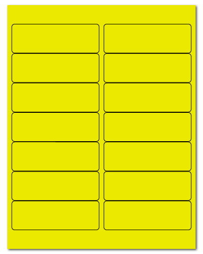 "4"" X 1.33"" Fluorescent Yellow Sheets"