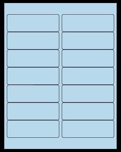 "4"" X 1.33"" Pastel Blue Sheets"