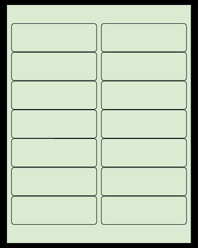 "4"" X 1.33"" Pastel Green Sheets"