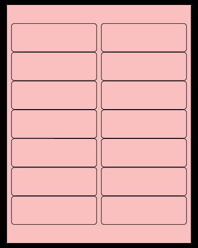 "4"" X 1.33"" Pastel Pink Sheets"
